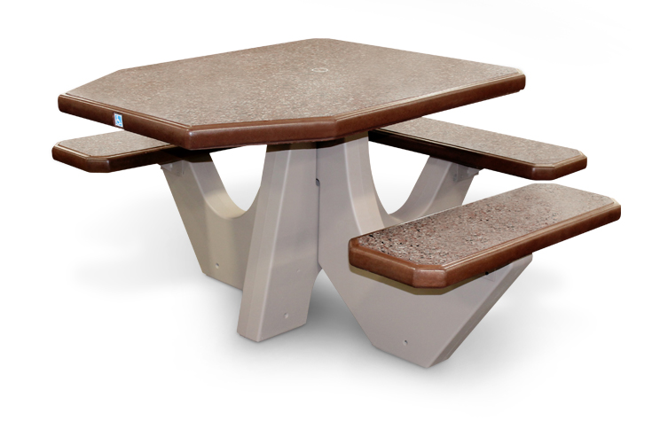 universally-accessible picnic table